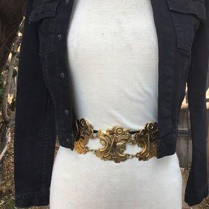 Vintage Iceberg leather & medallion belt 40 2-4